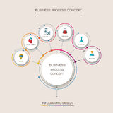 Vector infographic template.  Business concept with options. Vector infographic template with 3D paper label, integrated circles. Business concept with 6 steps Royalty Free Stock Images