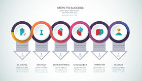 Vector infographic template Business concept with options. Vector infographic template with 3D paper label, integrated circles. Business, steps to success Stock Photos