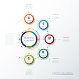 Vector infographic template with 3D paper label. Integrated circles. Business concept with options. For content, diagram, flow chart, steps, parts, timeline Stock Image