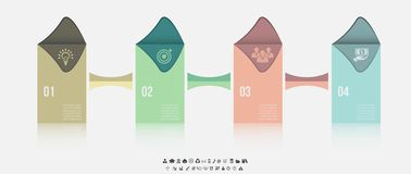 Vector infographic template. Design business concept for presentation, graph and diagram. 4 options, parts, steps or. Processes. Vector EPS10 royalty free illustration