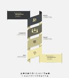 Vector infographic template. Design business concept for presentation, graph and diagram. 4 options, parts, steps or Royalty Free Stock Photos