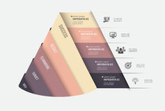 Vector infographic template. Design business concept for presentation, graph and diagram. 5 options, parts, steps or Stock Images