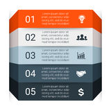 Vector infographic. Template for diagram, graph Stock Images