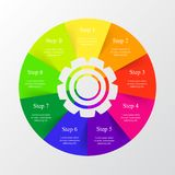 Vector infographic template. Stock Photography