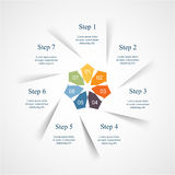Vector infographic template Royalty Free Stock Image