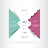 Vector infographic template Stock Images