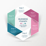 Vector infographic template Stock Photos