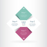 Vector infographic template Stock Photography