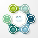 Vector infographic template for diagram, graph, presentation and chart. Business concept with 6 options, parts, steps or processes. Eps 10 stock illustration