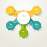 Vector infographic template for diagram, graph, presentation and. Chart. Business concept with 5 options, parts, steps or processes Royalty Free Stock Photos