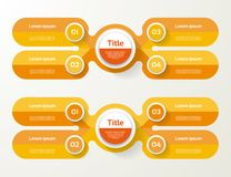 Vector infographic template for diagram, graph, presentation Stock Photography