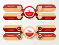 Vector infographic template for diagram, graph, presentation and Royalty Free Stock Photos