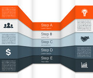 Vector Infographic. Template For Diagram, Graph Stock Photography