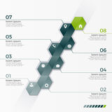 Vector infographic template with 8 hexagons for presentations Stock Image