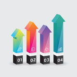 Vector infographic template Modern arrow box Design Minimal styl Stock Photos
