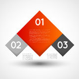 Vector infographic template squares Stock Photography