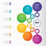 Vector infographic template of technology or education process w Stock Photography