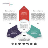 Vector infographic template with three arrows Royalty Free Stock Photography
