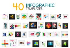 Vector infographic templates Royalty Free Stock Photos