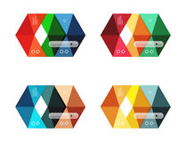 Vector infographic templates set Royalty Free Stock Photography