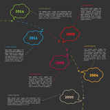 Vector Infographic timeline Stock Photography