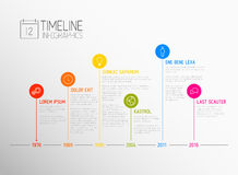 Vector Infographic timeline report template Stock Photography