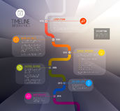 Vector Infographic timeline report template Stock Image