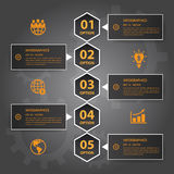 Vector Infographic timeline report template.eps10 Royalty Free Stock Photo