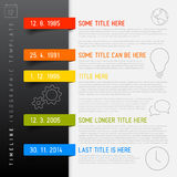 Vector Infographic timeline report template Stock Photos