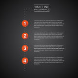 Vector Infographic timeline report template Royalty Free Stock Photos
