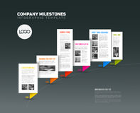 Vector Infographic timeline report template royalty free illustration