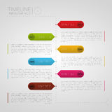 Vector Infographic timeline template illustration Royalty Free Stock Image