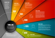 Vector Infographic timeline template royalty free illustration