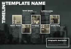 Vector Infographic timeline template with photos royalty free illustration