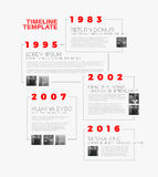Vector Infographic typography timeline report template Royalty Free Stock Photos