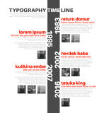 Vector Infographic typography timeline report template Stock Photos
