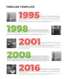 Vector Infographic typography timeline report template Royalty Free Stock Photo