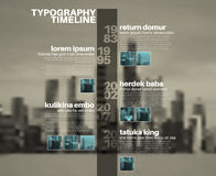 Vector Infographic typography timeline report template Royalty Free Stock Images