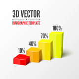 Vector infographic or web design template Royalty Free Stock Image