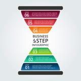 Vector infographic zandloper Stock Foto's