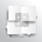 Vector infographics background Stock Photography