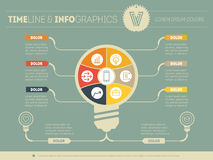 Vector infographics. Business concept with six options, parts Royalty Free Stock Image