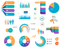 Vector Infographics Chart Labels And Icons Stock Image