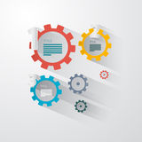 Vector Infographics - Cogs, Wheels Royalty Free Stock Image