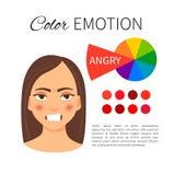 Color emotion royalty free illustration