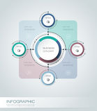 Vector infographics, 3D paper cycle diagram template Royalty Free Stock Photography