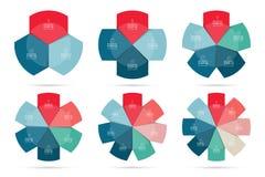 Vector infographics design circle template set Stock Photos