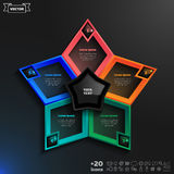 Vector infographics design with colorful rhombs. Vector infographics design with colorful rhombs on the black background. Business concept with 5 options, parts Royalty Free Illustration