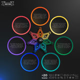 Vector infographics design with colorful rhombs. Royalty Free Stock Images