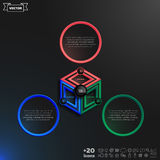Vector infographics design with colorful rhombs. Stock Images